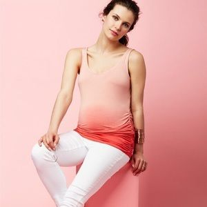 A Pea in the Pod Dip Dye Maternity Tank Top Large